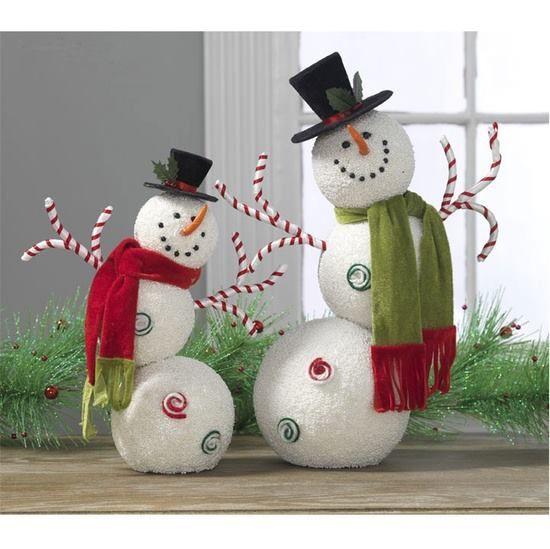 Más diseños de muñecos de nieve DIY