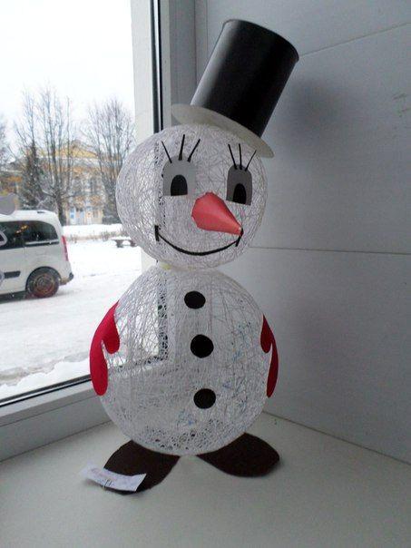 Muñecos de nieve DIY