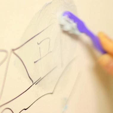 Elimina las manchas de tintas o colores