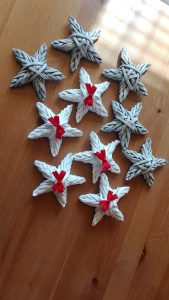 Como hacer una estrella navideña