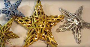estrella de papel periodico reciclado