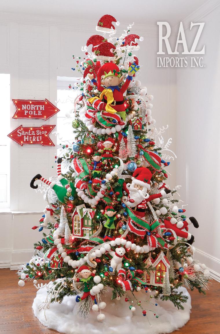 Árboles navideños animados