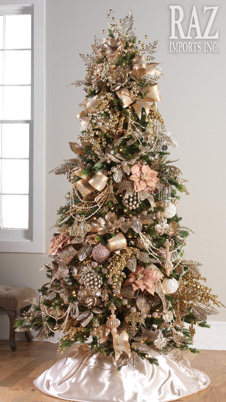 Pinos navideños en rosa gold