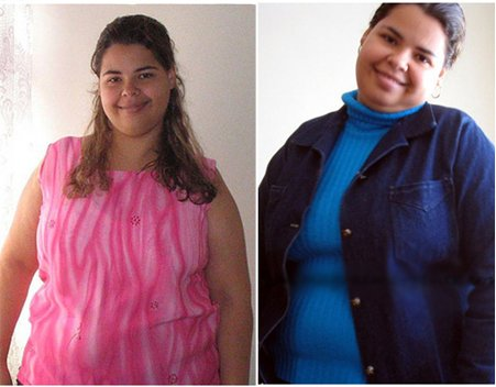 Esta chica pasó de pesar 98 Kg a 56 Kg en solamente dos Meses