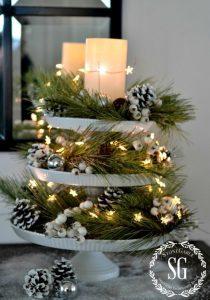 12 Centros de Mesa DIY para esta Navidad (9)