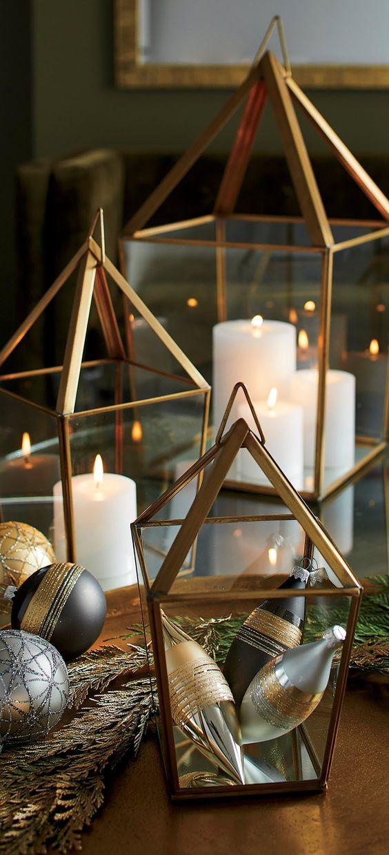 Centros de mesa navidenos en color dorado (1)