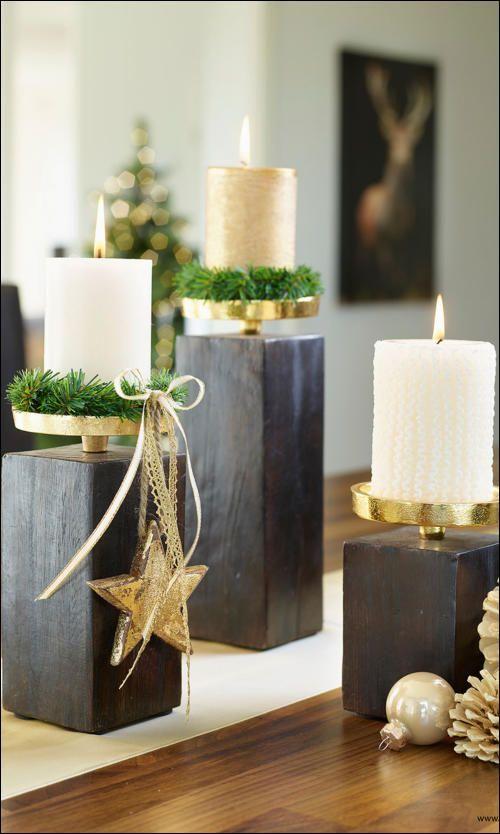 Centros de mesa navidenos en color dorado (7)