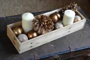 Centros de mesa navidenos en color dorado (8)