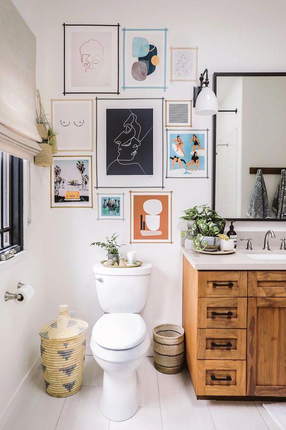 Cuadros para baños originales