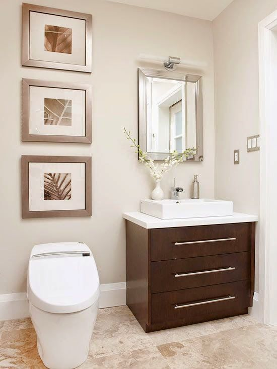 Cuadros para baños pequeños