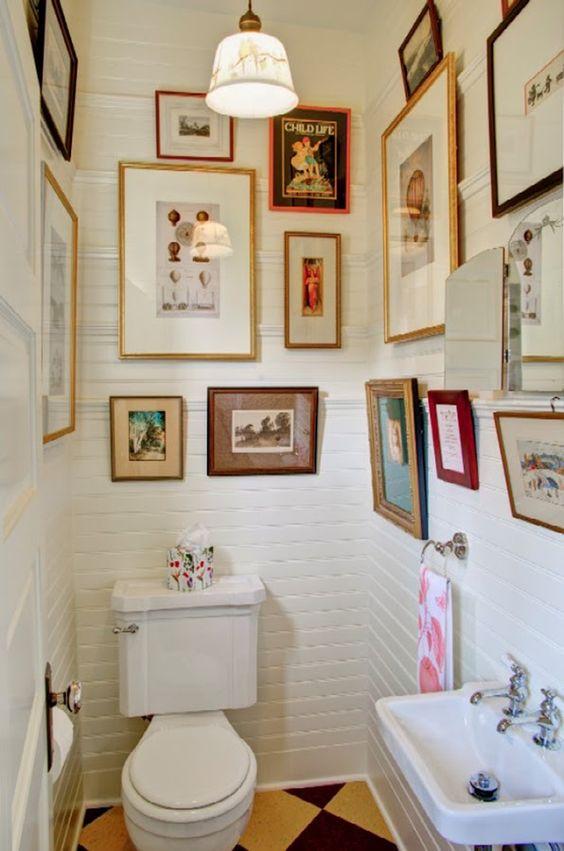 Cuadros para baños vintage