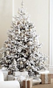 Árboles navideños nevados