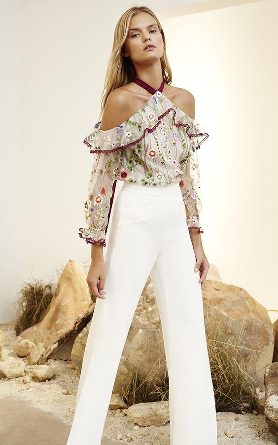 Blusas estampadas elegantes