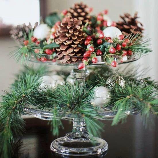 Centros de mesa navidenos modernos
