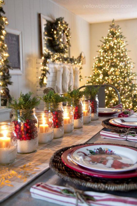 Centros de mesa para navidad 2019