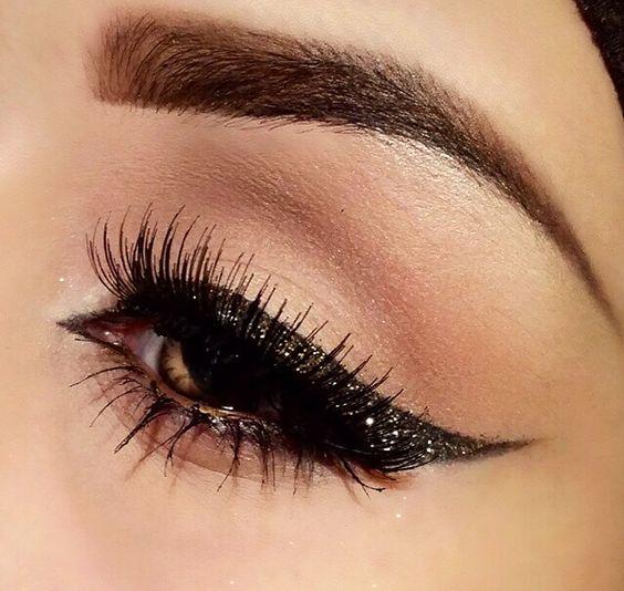 Delineadores de ojos con glitter