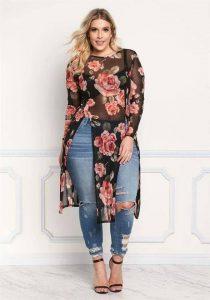 Diseños de blusas estampadas plus size
