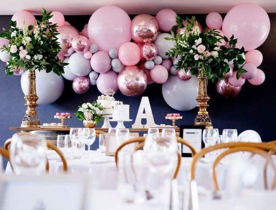 Ideas para decorar con globos 15 años