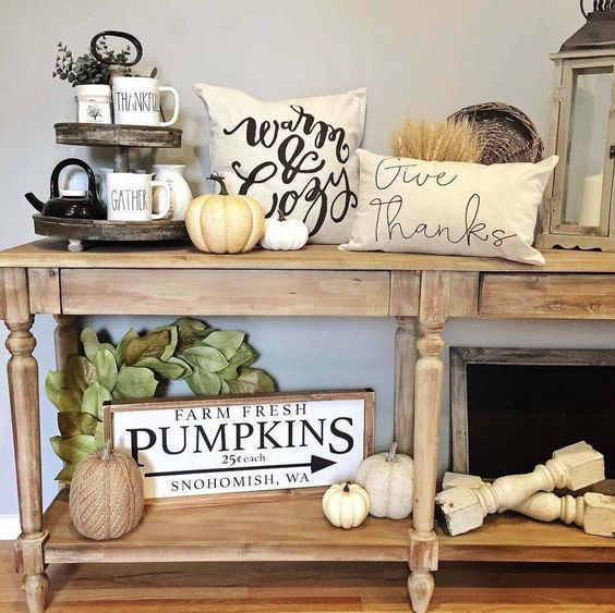 Ideas para decorar entradas en thankgiving