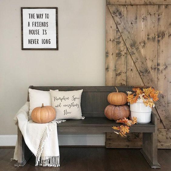 Ideas para decorar entradas en thankgiving