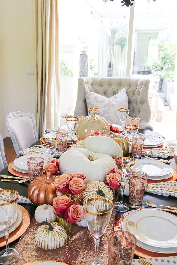 Ideas para decorar la mesa en thanksgiving