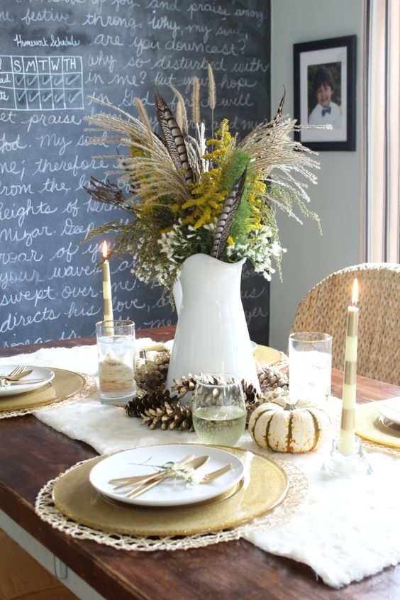 Ideas para decorar la mesa en thanksgiving