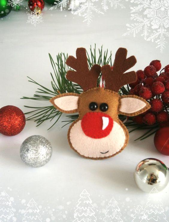 Manualidades navideñas con fieltro