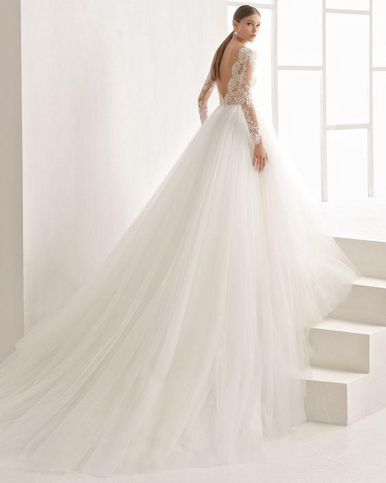 Vestidos para novia con cola