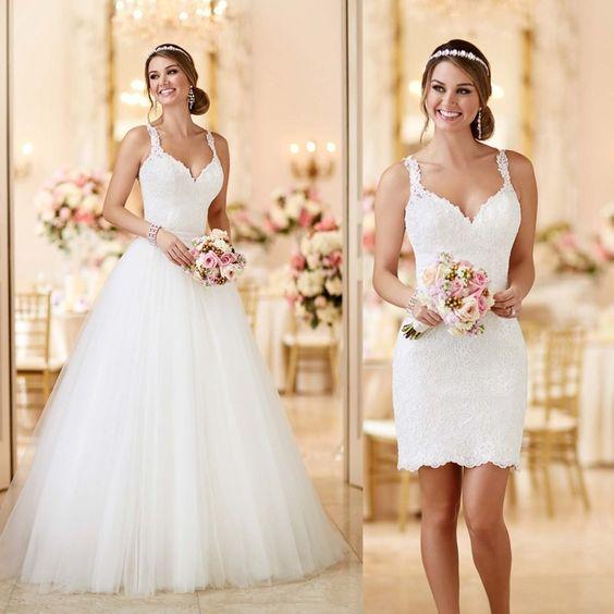 Vestidos para novia desmontables