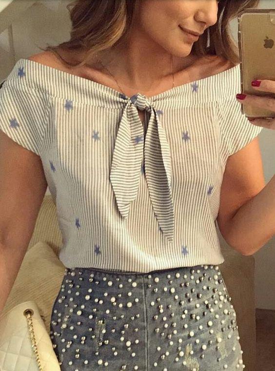 blusas para dama estampadas