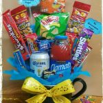 bouquet de dulces en taza para hombres