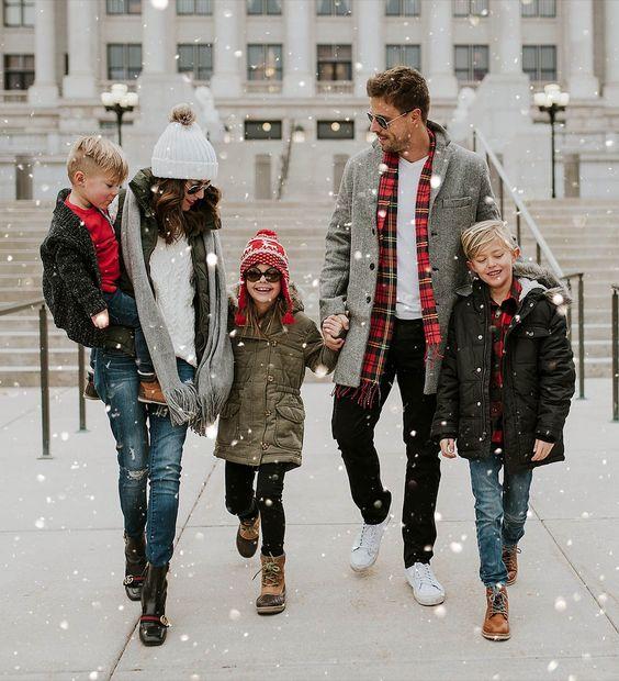 look de invierno 2018 para la familia