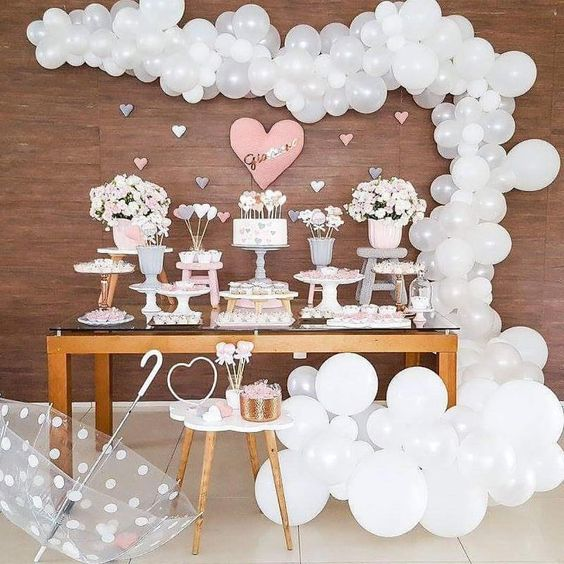Ideas para baby shower niña con globos