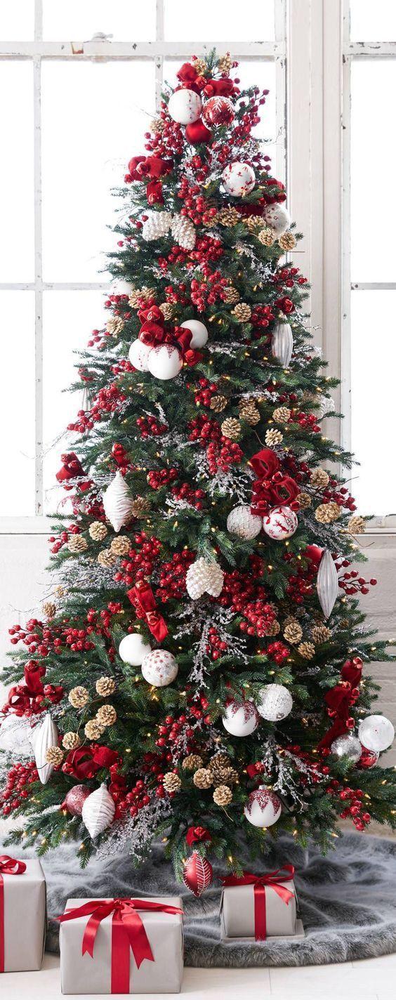 arboles de navidad color rojo