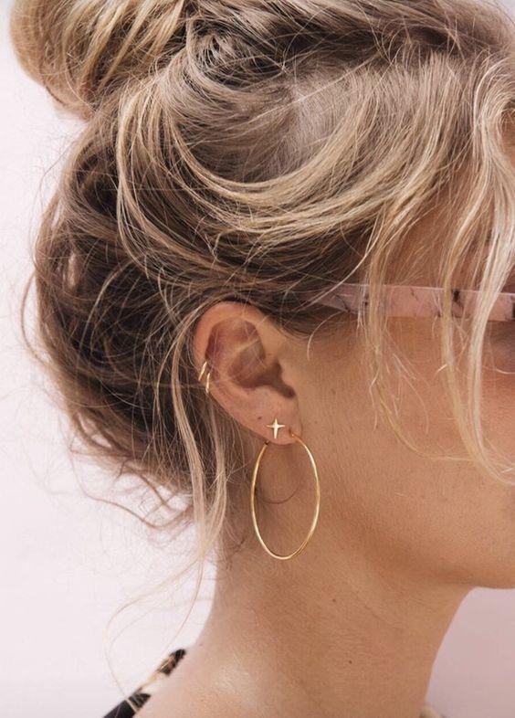 aretes de moda 2019 pequeños