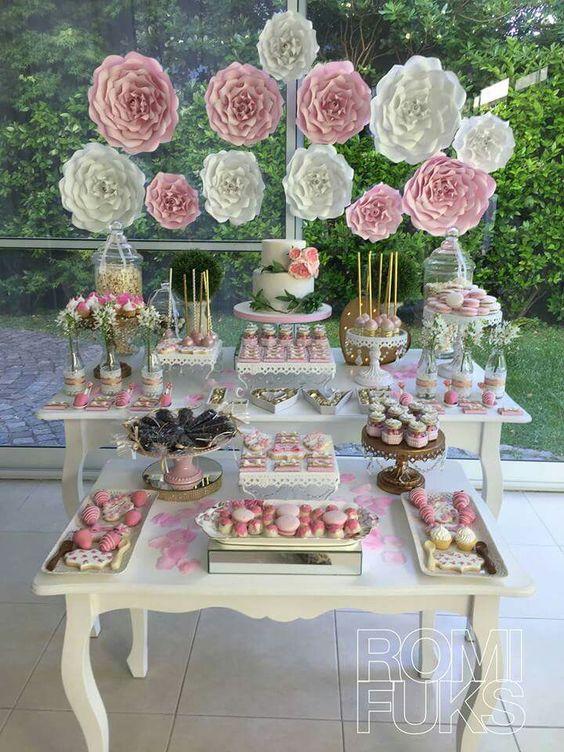 como decorar una mesa de dulces para 15 años