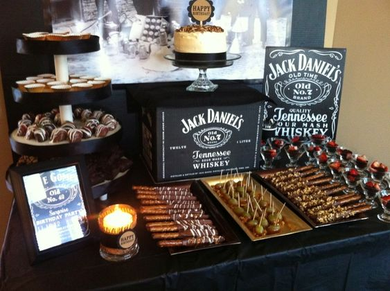 mesa dulce para cumpleaños de hombres