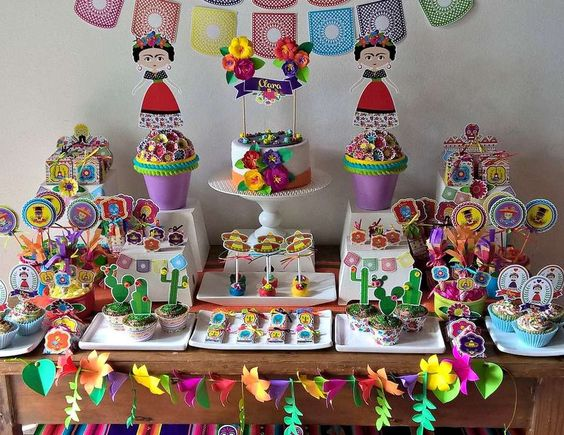 mesa dulce para cumpleaños de mujeres