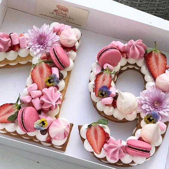 pastel de numeros para Mujer