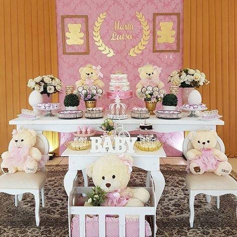 tematicas para baby shower niña 2019 con osos