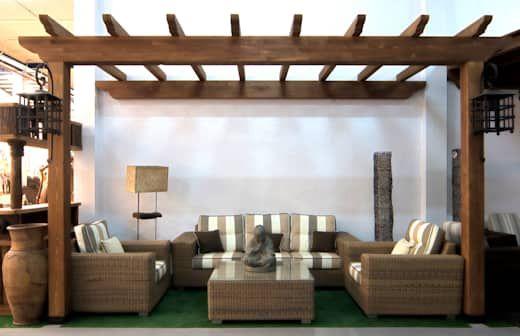 deck de madera para patios