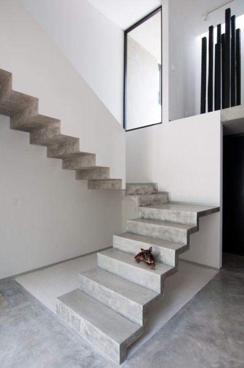 escaleras de concreto para casas pequeñas