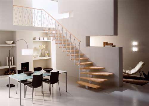 escaleras de madera para interiores pequeños