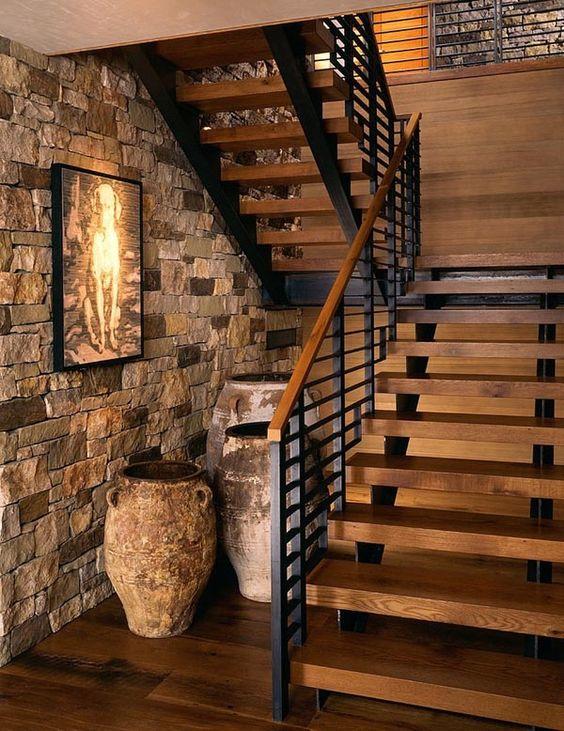 escaleras interiores para casas pequeñas de herreria