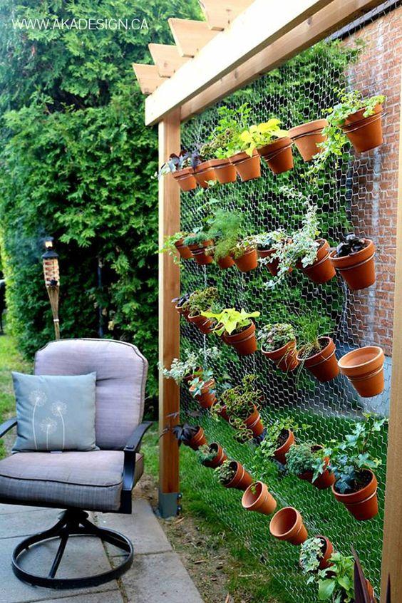jardines verticales para patios