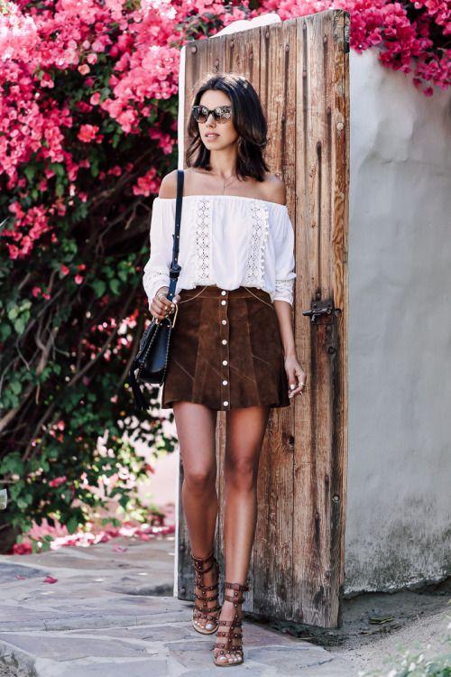 moda para mujeres de 30 años 2019 con falda