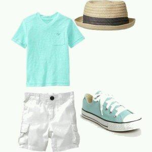 como combinar colores de ropa y zapatos para niños para verano