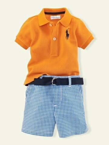 como combinar playera tipo polo y shorts en niños