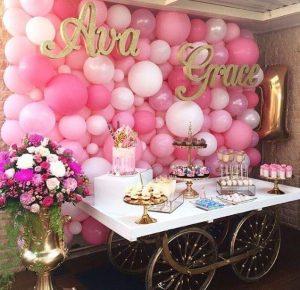 baby shower decorado con globos