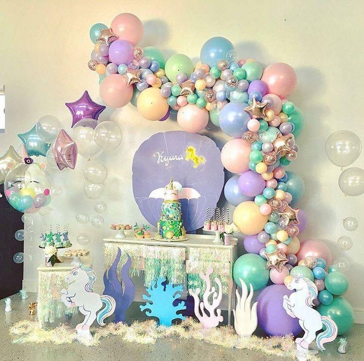 baby shower decorado con globos